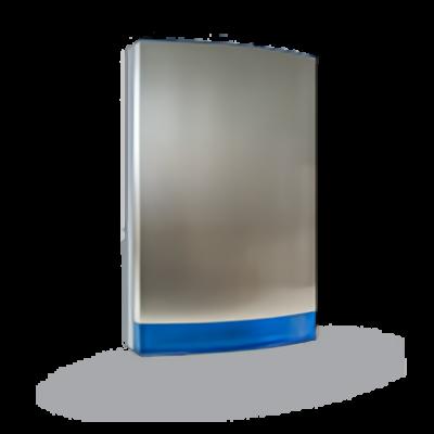 JABLOTRON JA-1X1A-C-ST-B, hangjelző előlap, rozsdamentes acél, kék prizmával
