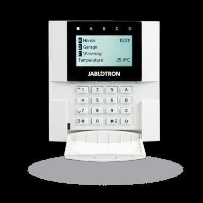 JABLOTRON JA-150E, vezeték nélküli kezelőegység, LCD kijelző, billentyűzet, RFID