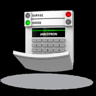 JABLOTRON JA-153E, vezeték nélküli kezelőegység, LCD kijelző, billentyűzet, RFID
