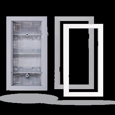 JABLOTRON JA-196PL-L fali szerelődoboz JA-1x2P és JA-1x2PW mozgásérzékelők tégla vagy gipszkarton falba való süllyesztéséhez