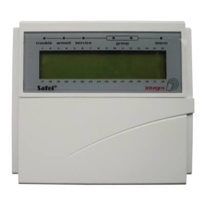 INTKLCDRBL, nyitható kék LCD kezelő olva