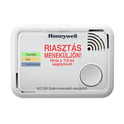 Honeywell XC100 CO (szén-monoxid) érzékelő, nagyméretű riasztás üzenettel