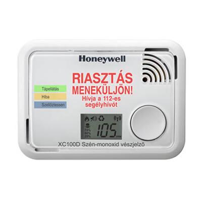 Honeywell XC100D CO (szén-monoxid) érzékelő, LCD-vel és riasztás üzenettel