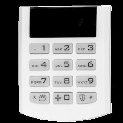 iQAlarm iQA-KP16LED/WHITE, LED kezelő, vezetékes