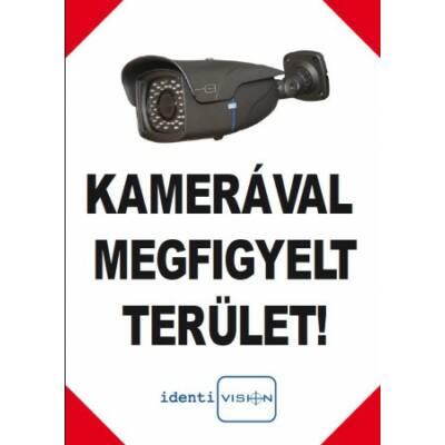 ICA-FTA4/A, kamerás figyelmeztető TÁBLA, A4, álló