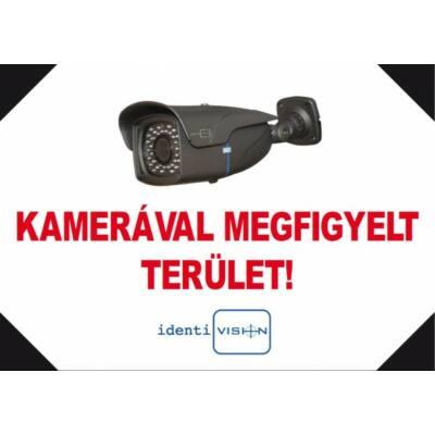 ICA-FTA4/F, kamerás figyelmeztető TÁBLA, A4, fekvő