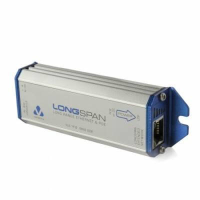 Veracity LONGSPAN (VLS-1P-B) Ethernet Hosszabító PoE BÁZIS Egység (PoE táplálás)