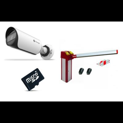 Kedvezményes Rendszámfelismerő Szett - Milesight LPR kamera + 128GB U3 microSD + Cardin 4m-es sorompó