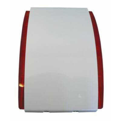 SPW220R, beltéri hang- fényjelző, szögletes (piros)