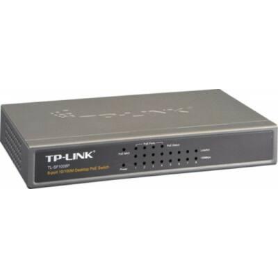 TP-LINK TL-SF1008P, 8 portos SWITCH ebből 4 port POE tápfeladó